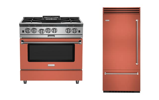 BlueStar appliances in new Matte Salmon Pink